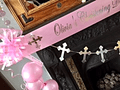 Girl's Personalised Christening Decorations